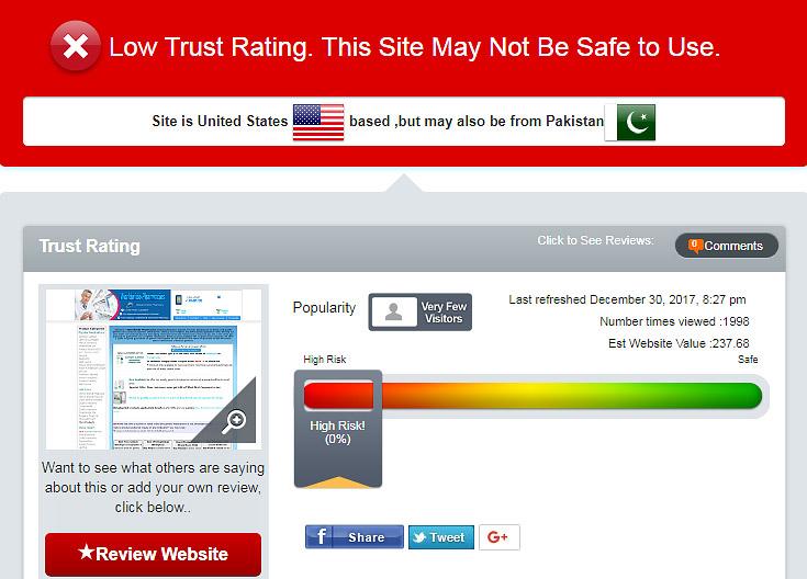 low trust rating