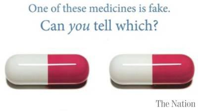 fake and real medicines