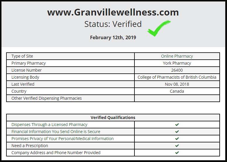 verified status