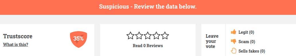 suspicious rating