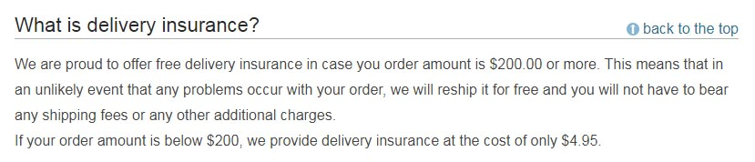 delivery insurance