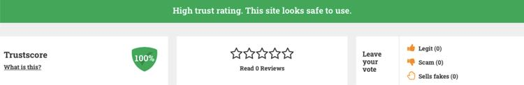 100% rating