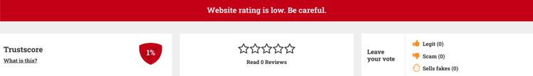 low rating